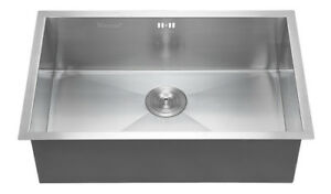 Commercial stainless steel top mount kitchen sink 18 gauge single commercial stainless steel top mount kitchen sink 18 gauge single bowl 28x18 workwithnaturefo