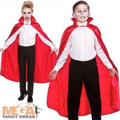 Deluxe Bambini Mantello Rosso Halloween Ragazzi Ragazze Costume Vampiro Ac-mostra Il Titolo Originale Ricco Di Splendore Poetico E Pittorico