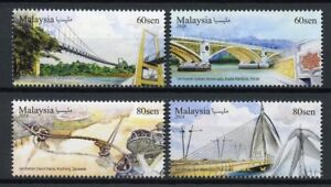 Malaysia-2018-MNH-Bridges-4v-Set-Architecture-Bridge-Stamps