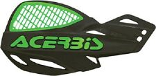 Acerbis Vented Uniko Hand Guards Handlebar Motorcycle Dirt Bike Black Green