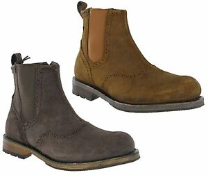 Details about CAT Caterpillar Raw Fitz Chelsea Boots Mens Suede Leather Zip Up Dealer Shoes