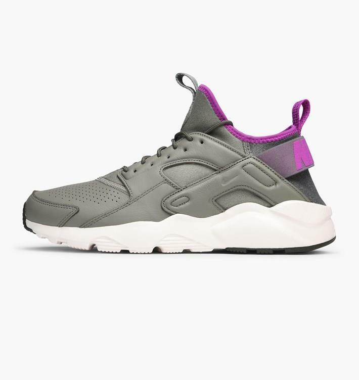 NIKE AIR HUARACHE RUN ULTRA SE 875841 003 DARK STUCCO GREY/RIVER ROCK-PURPLE