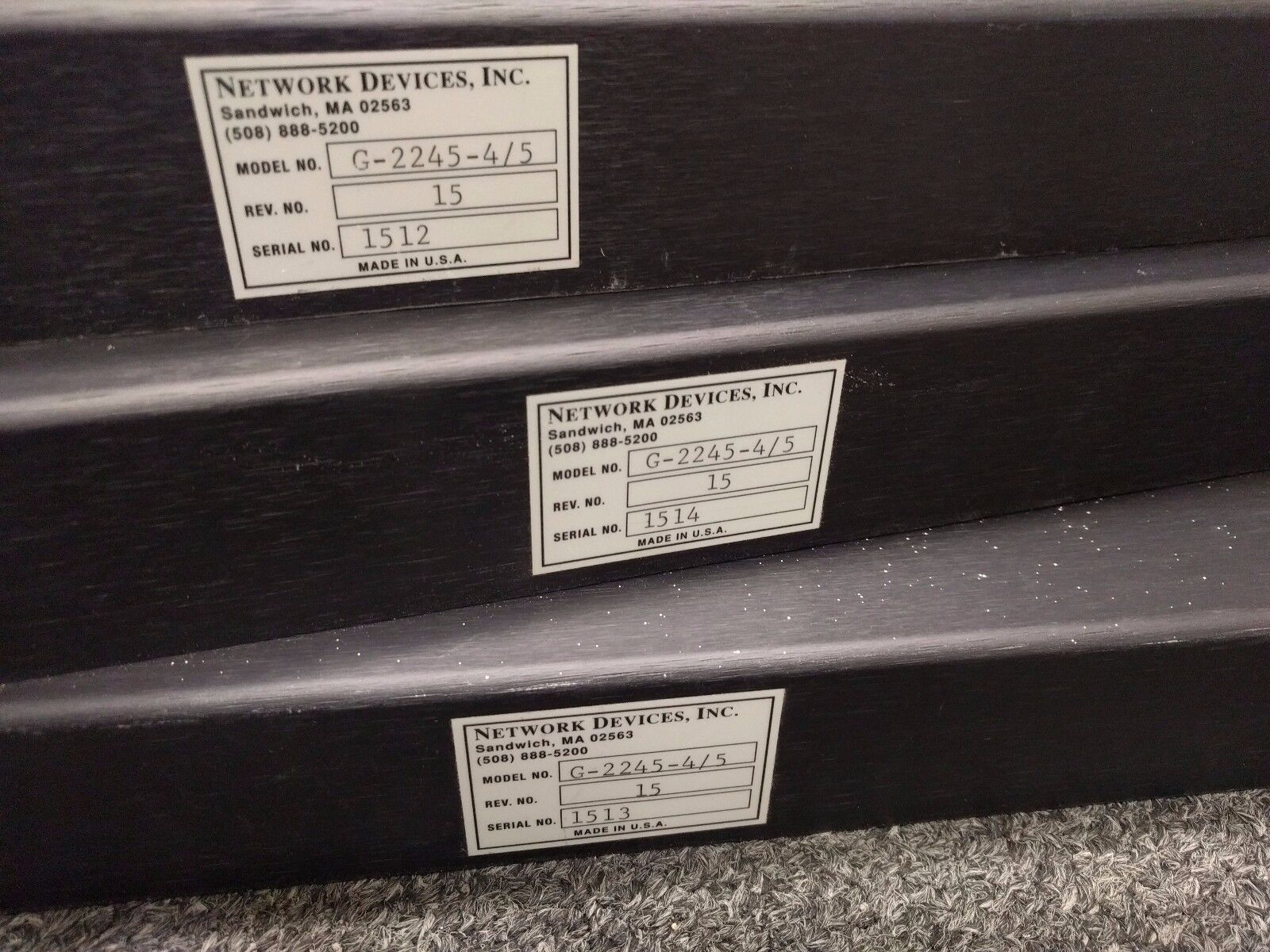 Lot of of of 3 Network Devices Gemini Multisession Star for IBM AS 400 G-2245-4 5 7054dd