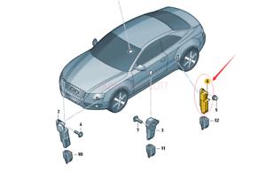 OE Lateral Acceleration Sensor Crashsensor Rear For Golf ...