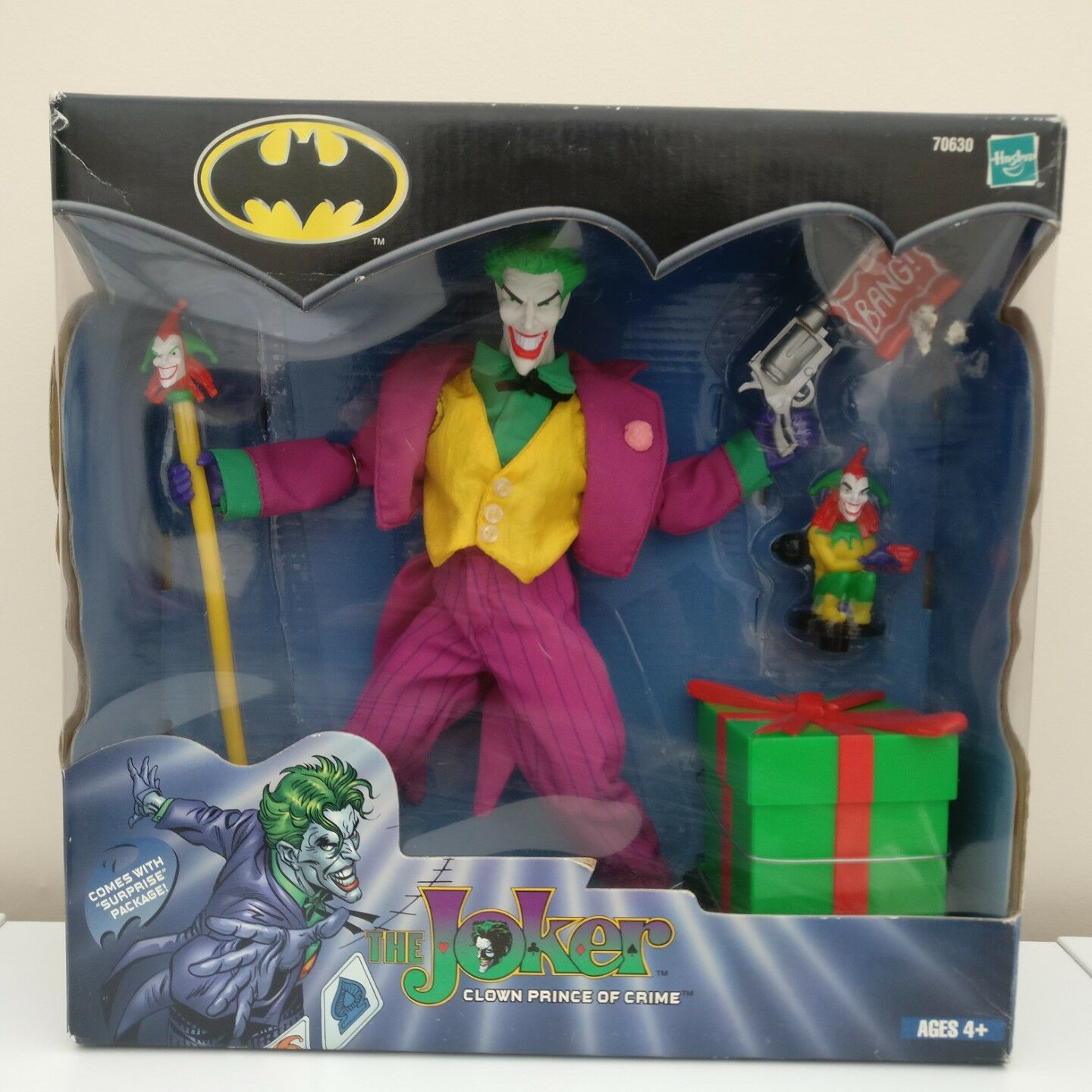 9  Batman Clown Prince of Crime Joker Figure Toy 2001 Vintage Hasbro from USA