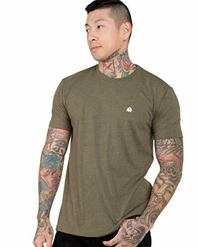 INTO THE AM Men/'s Premium Basic Tees Ultra-Soft Short Sleeve Modern Fit Everyd