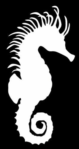 SEAHORSE Vinyl Decal Sticker Car Window Wall Bumper Fish Animal Sea Horse Cute