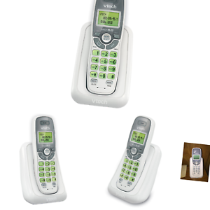 White Grey Call Waiting VTech CS6114 Cordless Phone with Caller ID