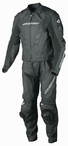 New-AGVsport-Delta-Two-Peice-Leather-Race-Suit-CE-Armour-YKK-zips