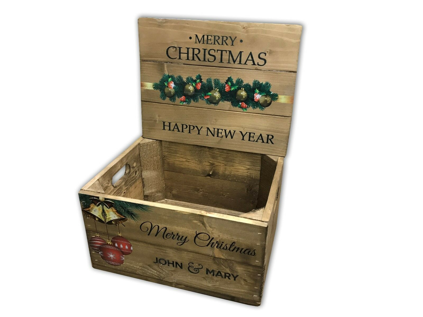 Christmas Box with lid - Personalised - Classic Wood Stain Stain Stain 7ff30e