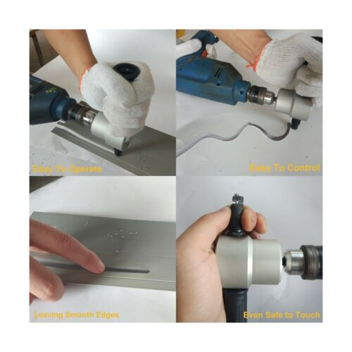 Lichamp Drill Attachment Nibbler Me... Double Headed Sheet Metal Nibbler Cutter
