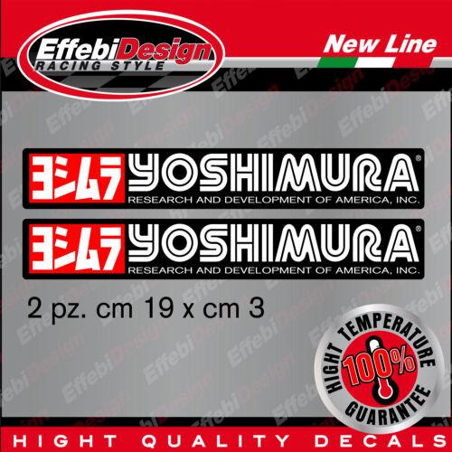 YOSHIMURA 2 adesivI alte temperature 200GRADI marmitte scarichi auto moto TIPO2