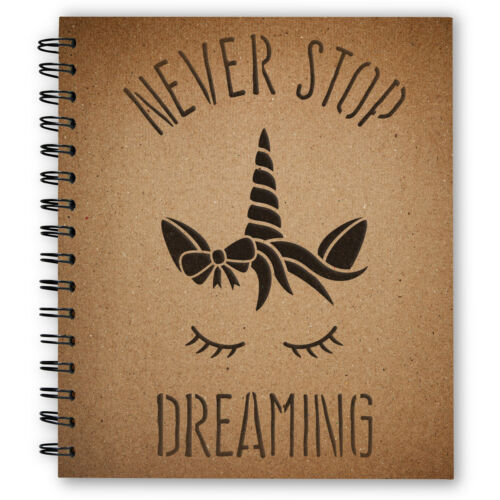 CrafStar Never Stop Dreaming Unicorn Stencil Reusable Unicorn Craft Template