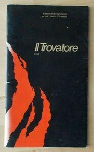 Il Trovatore programme English National Opera ENO 1983 Sean Rea Helen Attfield