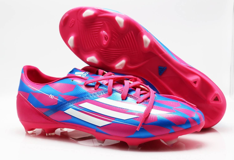 8b7fdec3275 Adidas Fußballschuhe M17604 F10 FG blue pink (73) Gr 46 dggecl1567 ...