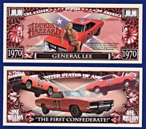 Dollar Bills Funny TV series-Car 25-General Lee MONEY-Y1 Dukes of Hazzard