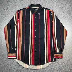 90s-Vintage-WRANGLER-WESTERN-SHIRTS-Mens-Medium-Long-Sleeve-Shirt-Striped