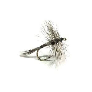 6pcs Half Dozen Bass Trout Salmon Steelhead Fly Fishing Flies Black Mosquito