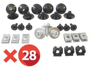 Collection Ici Vw Polo 9n 9n3 Fox 01-09 Plaque Couvercle Cache Protection Sous Moteur X28 Clip Remise En Ligne