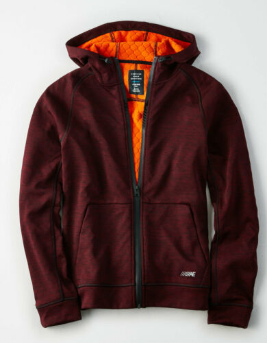 American Eagle AE Men/'s Lightweight Active Texture Hoodie Jacket NWT