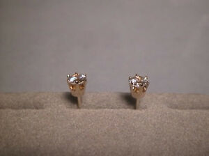 925 STERLING SILVER 2 CARAT 8MM ROUND CUT SIGNITY CZ SOLITAIRE EARRINGS