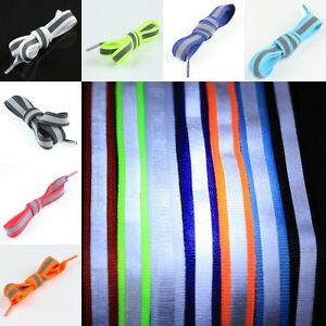 Flat-5M-Reflective-High-Visibility-Shoelaces-Shoestrings-Shoe-Sneaker-Boot-Laces