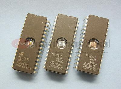STMicroelectronics M27C512 27C512 512KBIT UV EPROM CDIP28 x 100pcs