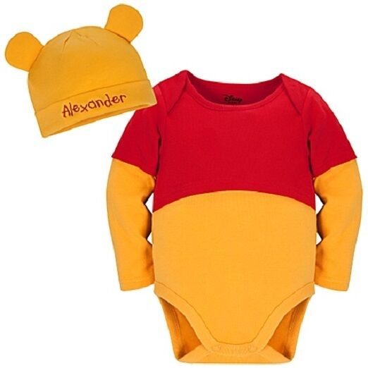 WiNNiE the PooH~COTTON~Costume~BODYSUIT+HAT+EARS~NWT~0-24M~Disney Store
