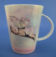 Anne Geddes Coffee Mug Baby Fairy Wings Orange