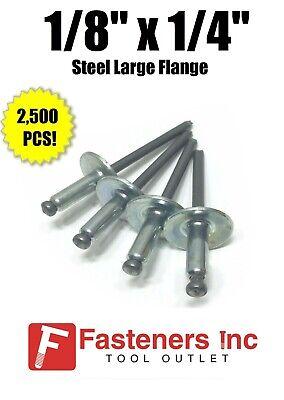 "3//16/"" Dia QTY 2500 x 1//8/"" Grip Range POP Rivets ALL Aluminium 6-2 ABA62"