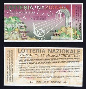 Ticket Raffle National - Musicarchitettura Gerace 1994