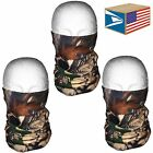 3 LOT QUICK DRY FACE MASK Real Tree Camo Camouflage HUNTING STRETCH MICRO FIBER!