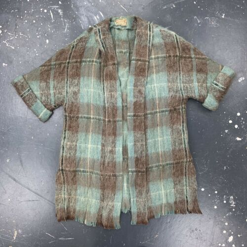 Andrew Stewart Short Sleeve Mohair Sweater Robe Wo