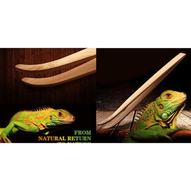 Eco-Friendly Bamboo Tool Angled Reptile Terrarium Feeding Tweezers JR