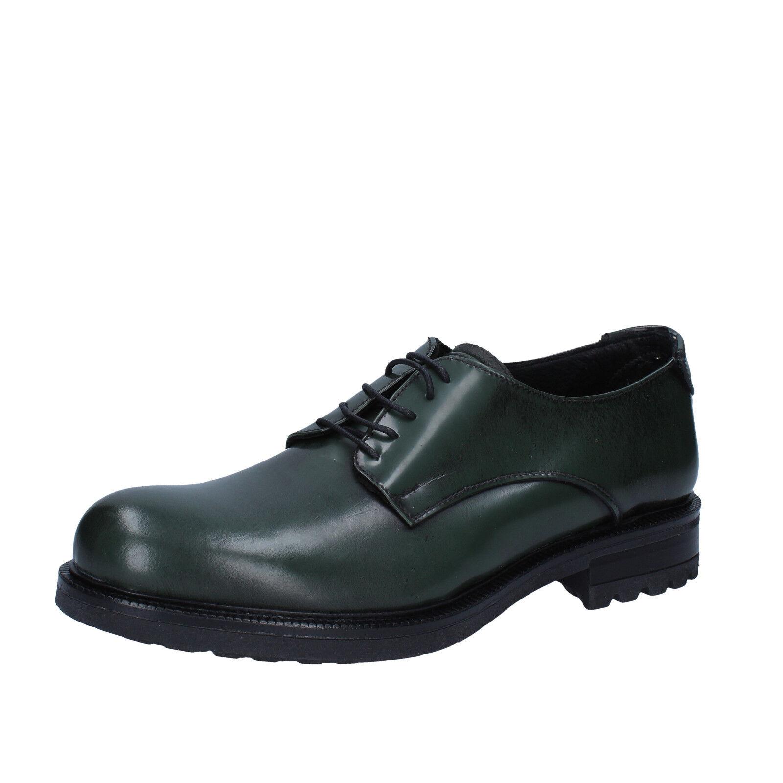 Mens shoes SALVO BARONE 11 (EU 45) elegant green leather  BZ158-45