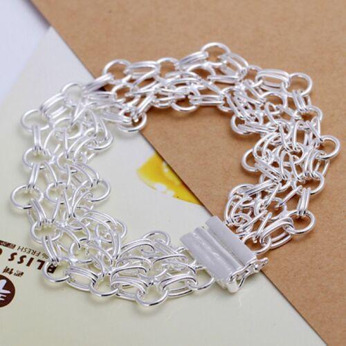 Wholesale Fashion 925 Sterling Argent Massif Bijoux circel Link Bracelet H013