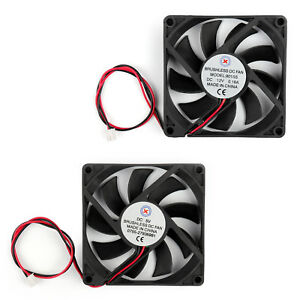 1 Pcs DC Fan 12V 8015 3 Pin 80X80X15mm Brushless DC Cooling Blade Fan