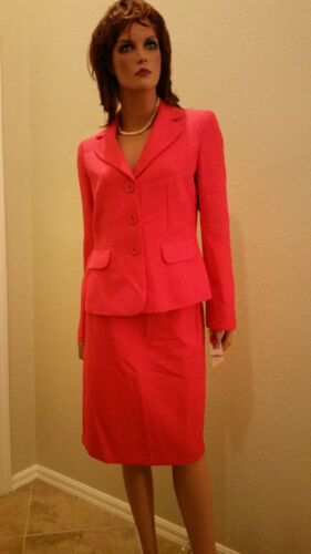 Evan Picone Classic Time  Pink 2pc Suit Skirt  Blazer Jacket Brand New Tags $200