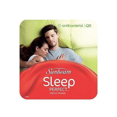 NEW Sunbeam Sleep Perfect Antibacterial Electric Blanket