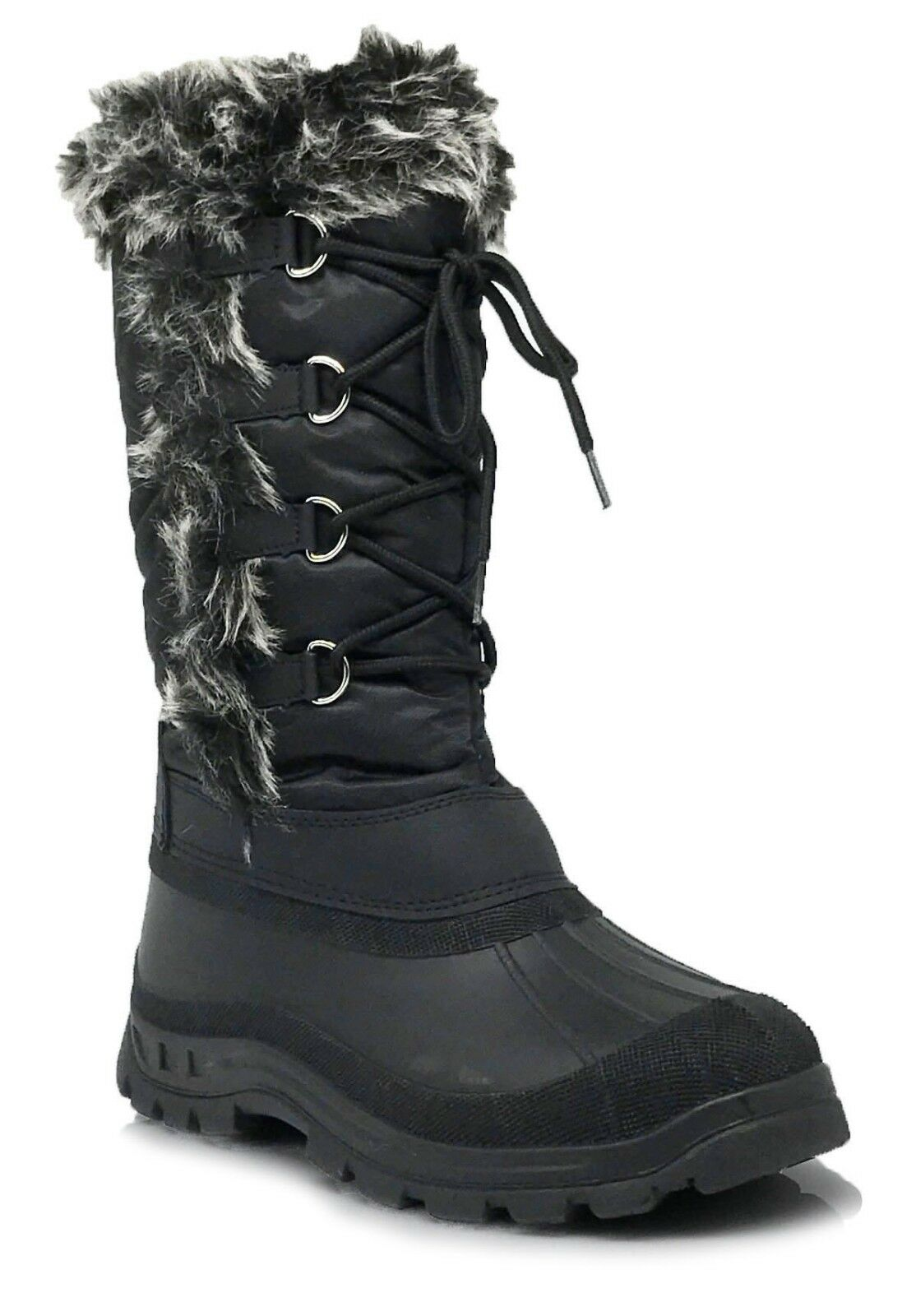 New Women Snow Boots Weather Proof Water Resistant Side Zipper Fur Lined Ice