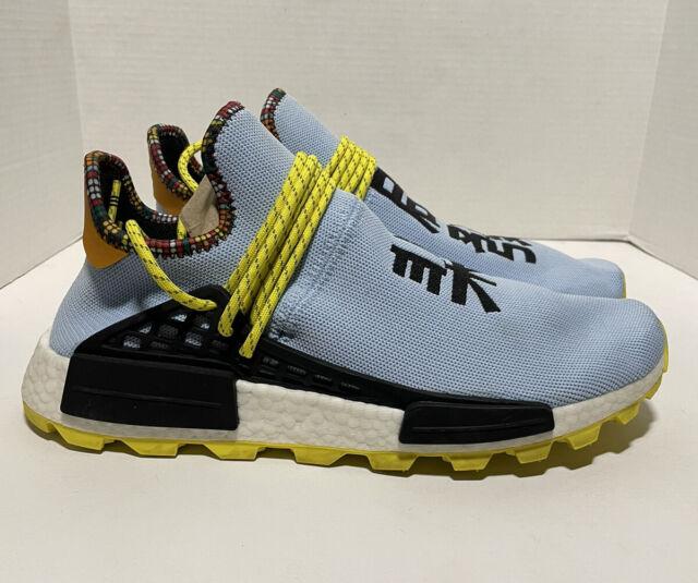 atractivo vitalidad escala  adidas NMD Human Race Pharrell Williams Black Yellow PW HU Species Nomad  Bb3068 8 for sale online   eBay