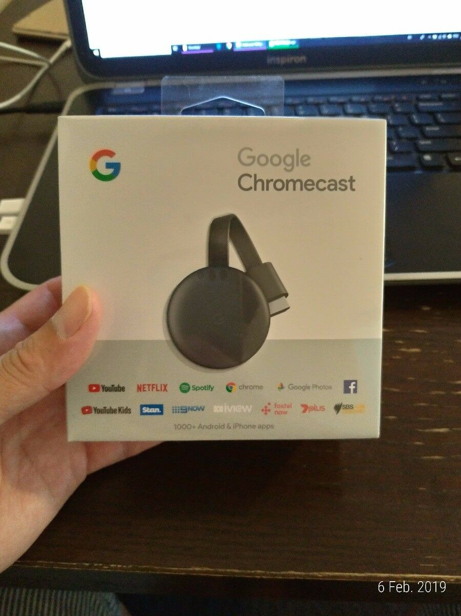 Google Chromecast 3rd Gen Charcoal Grey Digital Media Video Stream HD TV