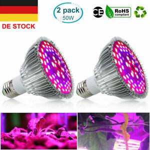 E27 50W LED Wachsen Licht Birne Vollspektrum Pflanzenlampe Pflanzenlicht Lampe
