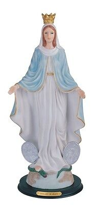 """16"""" Inch Our Lady of Grace Statue Figurine Figure Milagrosa Saint Religious"""