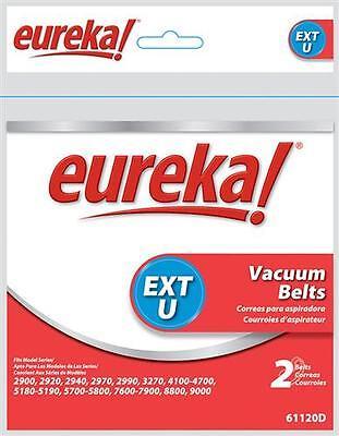 Genuine Eureka style U extended life vacuum cleaner belt 2 pack 61120G 61120D