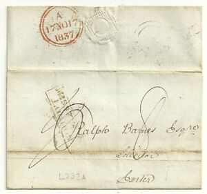 1837-FRAMED-MISSENT-TO-LONDON-ON-WRAPPER-TO-RALPH-BARNES-IN-EXETER-L232A