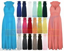 Spring Coil Maxi Dress Long Stretch Evening Dresses Ladies Womens ONE SIZE 8-14