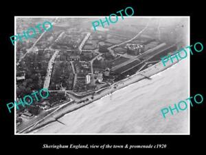 OLD-LARGE-HISTORIC-PHOTO-OF-SHERINGHAM-ENGLAND-THE-TOWN-amp-PROMENADE-c1920