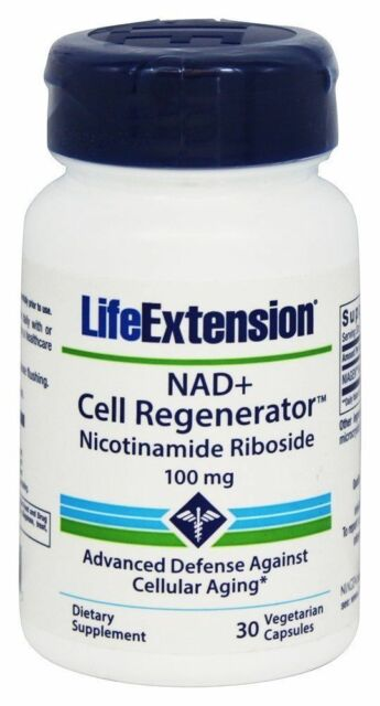 NAD+  Life Extension, Cell Regenerator - 100 mg  30 capsules