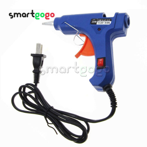 20W Electric Heating Hot Melt Glue Gun 7mm Adhesive Stick Repair Tool